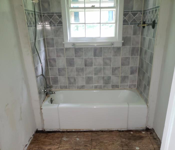 bathroom cleaned and restored